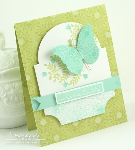 Love the layout by Nichole Heady: Cards Ideas, Spring Moss, Papertrey Ink, Flowers Fusion, Cards Inspiration, Butterflies Cards, Hope Cards, Aqua Mists, Birthday Ideas