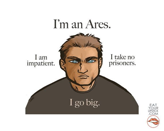 Greek God Ares Art // I'm an Ares by LipsticKissPress on Etsy, $10.00