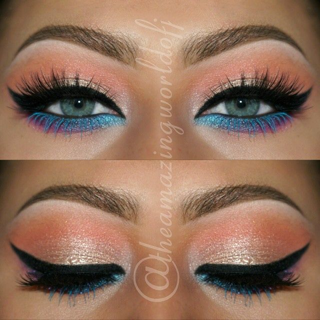 Image result for bottom line blue eye liner