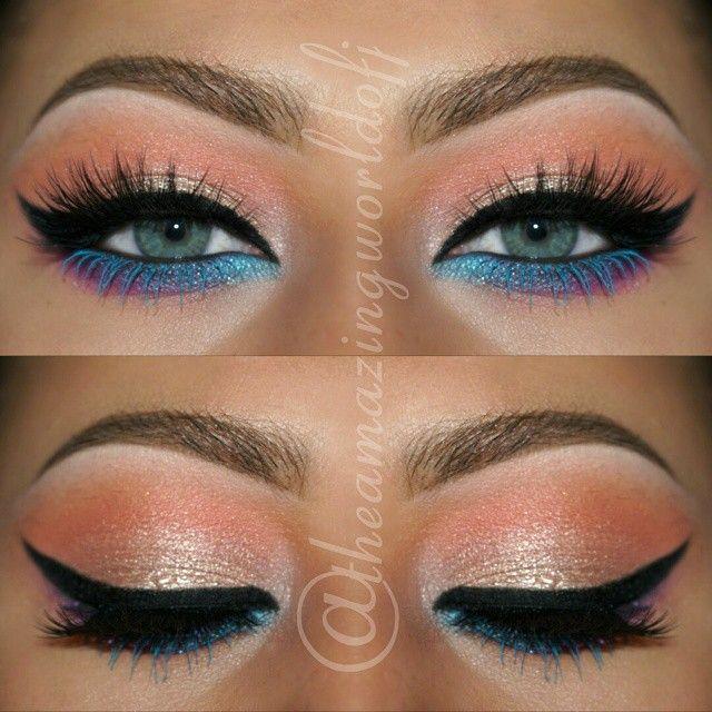 Image result for bottom line blue eye liner