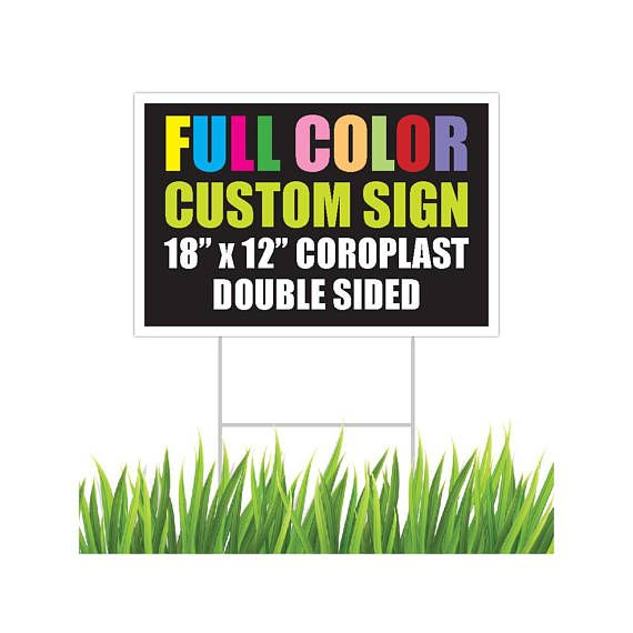 Full color custom yard sign double sided corrugated plastic