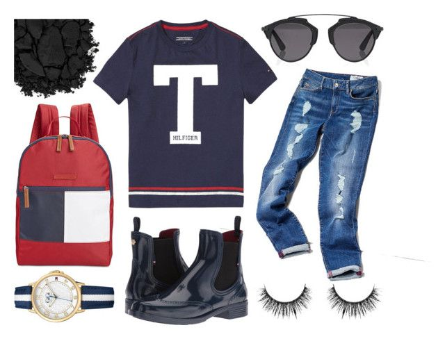 ~ the American dream ~ by leandra-rebecca on Polyvore featuring polyvore, fashion, style, Tommy Hilfiger, Christian Dior, Urban Decay and clothing