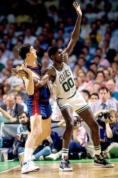 Robert Parish, who played for the Boston Celtics from 1980 to 1994.