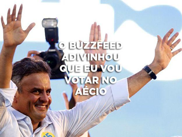 I got Aécio Neves! Podemos adivinhar se você vai votar no Aécio ou na Dilma?