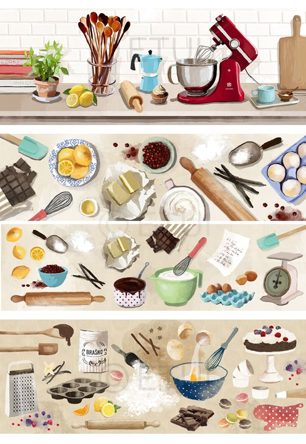 FOOD ILLUSTRATIONS by Mateja Kovač, via Behance