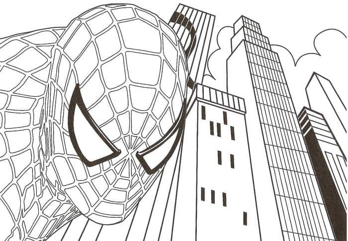 Spiderman Ps4 Coloring Pages From Spiderman Coloring Pages