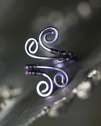 Purple and Amethyst Wirewrapped Copper Spiral Toe Ring by Moss & Mist Jewelry by Moss & Mist Jewelry, via Flickr