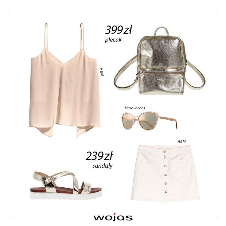 Beżowy t-shirt w kolorze ecru i białe szorty, to idealna stylizacja na letni spacer! Brązowe sandały Wojas (https://wojas.pl/produkt/24427/sandaly-meskie-5302-53 ) oraz pasek (https://wojas.pl/produkt/20963/pasek-meski-5971-92 nadają stylizacji casualowego charakteru.