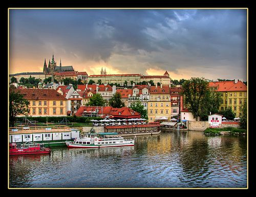 Prague Sunset; Photo and Commentary by Mike G. K., taken on 2 June 2009; All rights reserved to Copyright Holder;