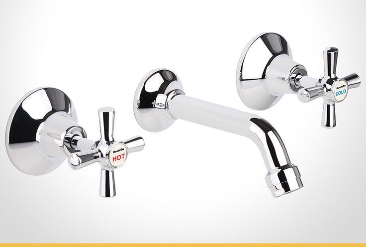 Cadenza cross handle chrome bath set