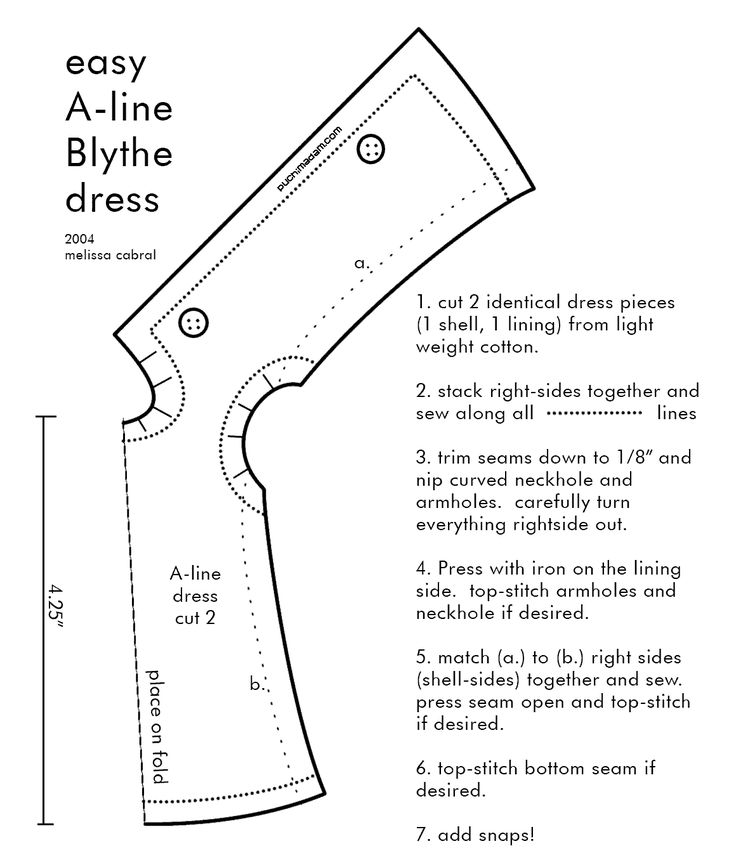 blythe a line dress pattern