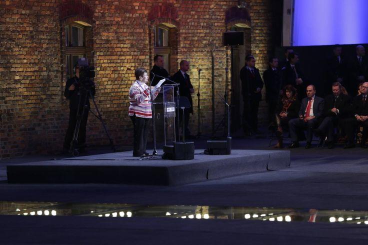 70th anniverary of the liberation of Auschwitz. Auschwitz Survivor Halina Birenbaum.
