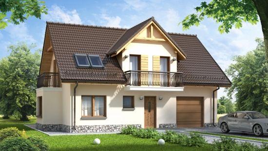 Proiect de casa unifamiliala cu 3 dormitoare si garaj