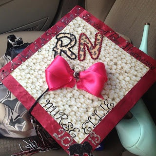 New blog post about nursing school graduation and a tutorial about decorating my grad cap! Check it out!!