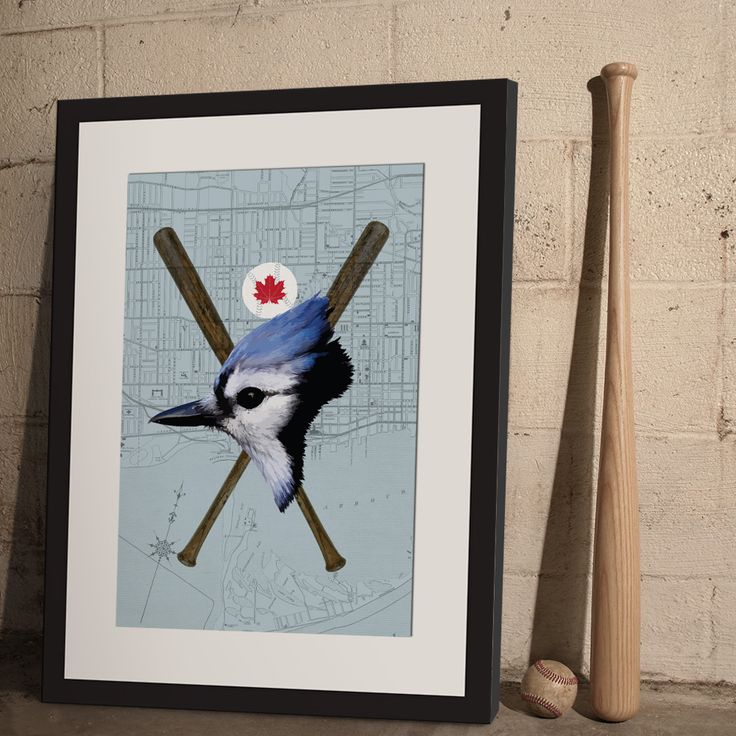 Vintage art poster inspired by Canada's remaining MLB franchise—the Toronto Blue Jays—from ManMade Art for Guys' MLB series. Makes a great gift for men, or decoration for any condo, apartment or man-cave!