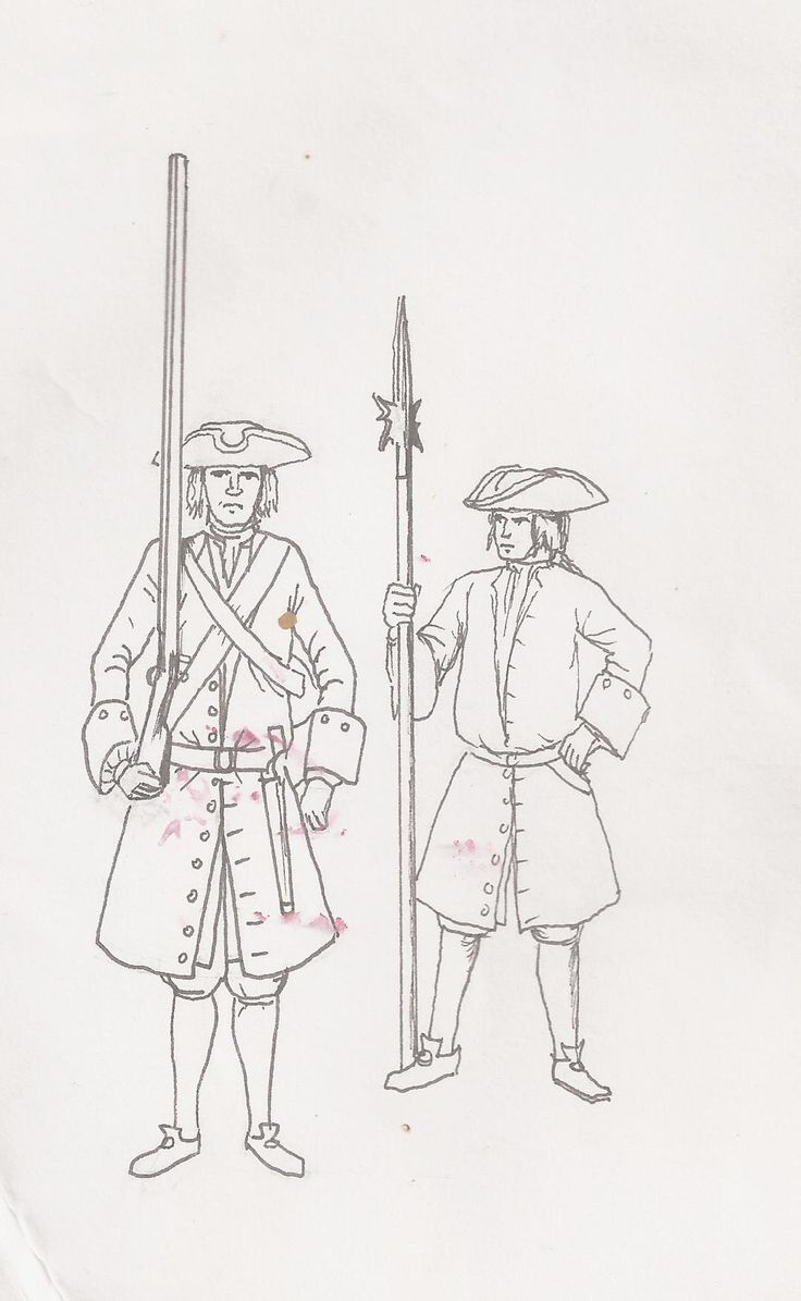 French Marines early 18thc
