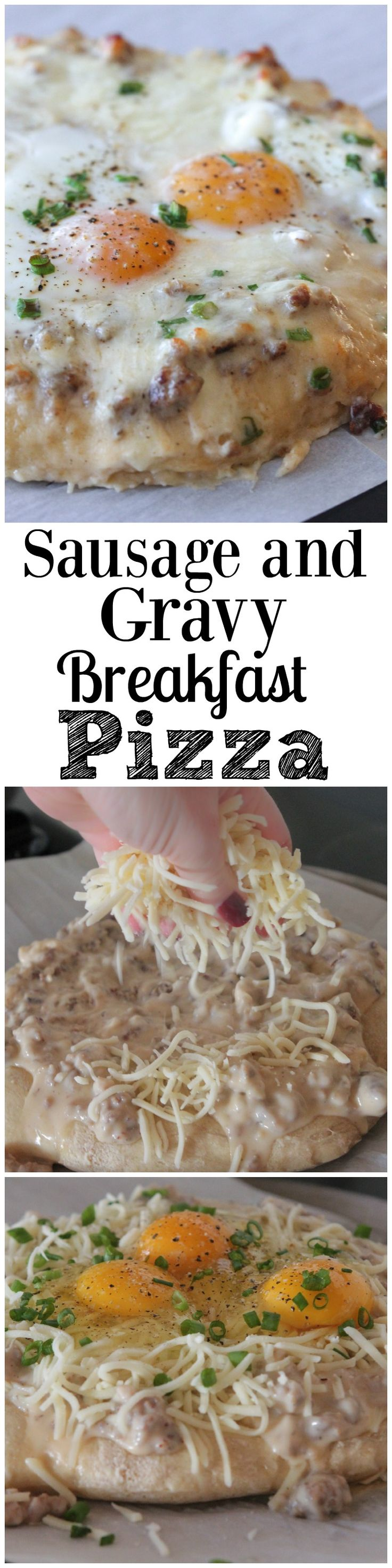 Sausage and Gravy Breakfast Pizza.  Don't miss this one!