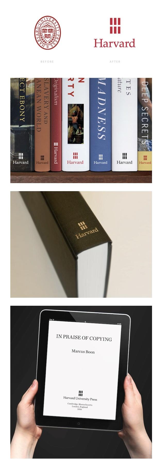 Harvard University Press Updates Logo