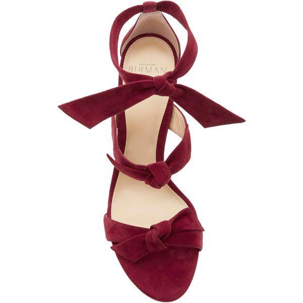 Alexandre Birman Lolita Platform Sandals (€525) ❤ liked on Polyvore featuring shoes, sandals, suede leather shoes, bow platform sandals, suede platform sandals, platform shoes and suede sandals