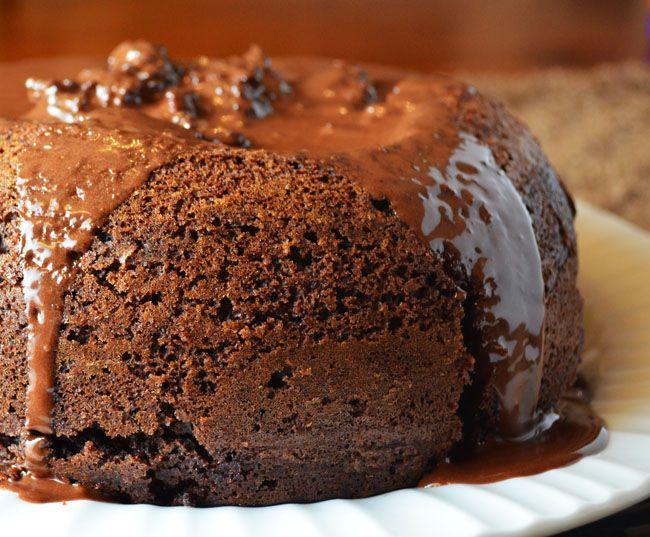 Rice cooker chocolate lava cake