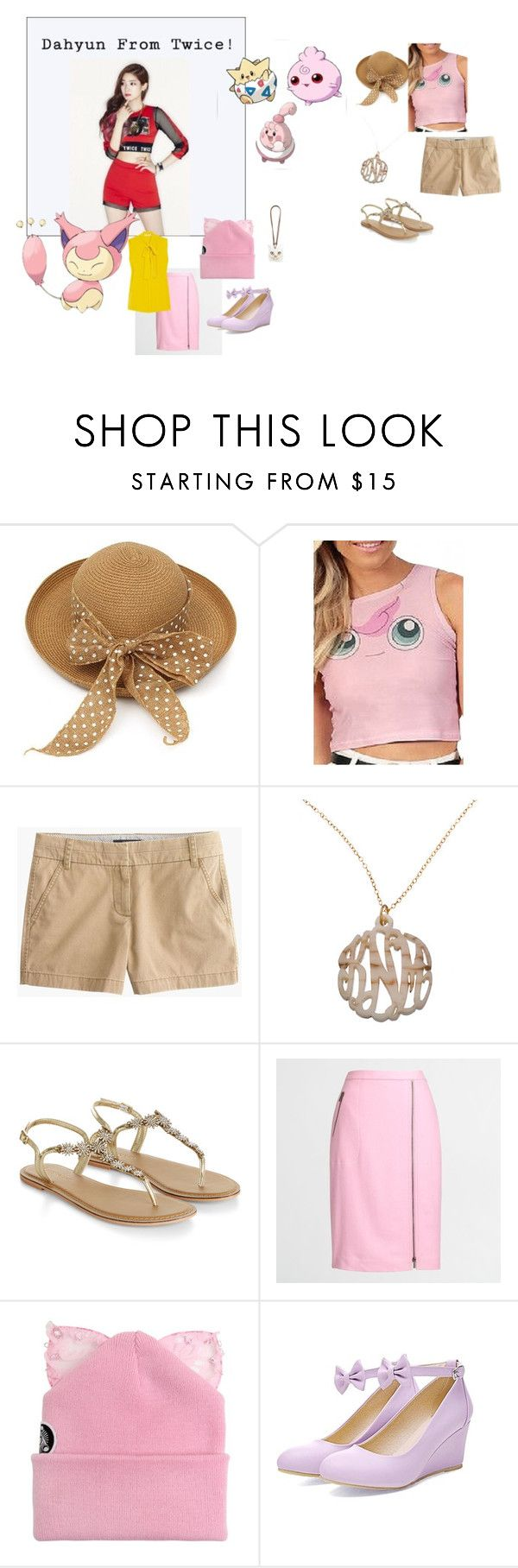 """""""Dahyun"""" by mandalinaqitrydewi on Polyvore featuring J.Crew, Initial Reaction, Accessorize, Silver Spoon Attire and Loewe"""