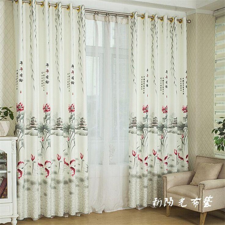 Sala de estar costume chinês cortina cortina de tecido cortinas do quarto cor