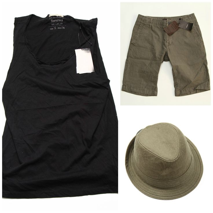 Men summer outfit cu produse de 90 Lei:  Maieu barbati (30 Lei) https://www.543.ro/maieu-bershka-i14359 Pantaloni scurti (30 Lei) https://www.543.ro/pantaloni-scurti-bershka-6-i1518 Palarie barbati (30 Lei) https://www.543.ro/palarie-bershka-i9211