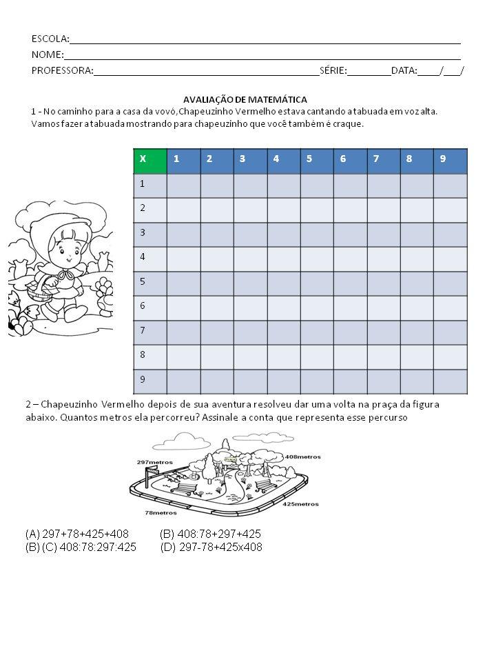 Atividades, projetos e sequências didáticas: AVALIAÇÃO DE MATEMÁTICA - 5 º ANO DO ENSINO FUNDAMENTAL