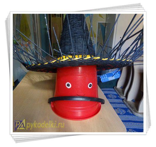 шляпа из бумаги, шляпа из газетных трубочек, шляпа бумажная, шляпа мексиканская из газет, плетение из бумаги