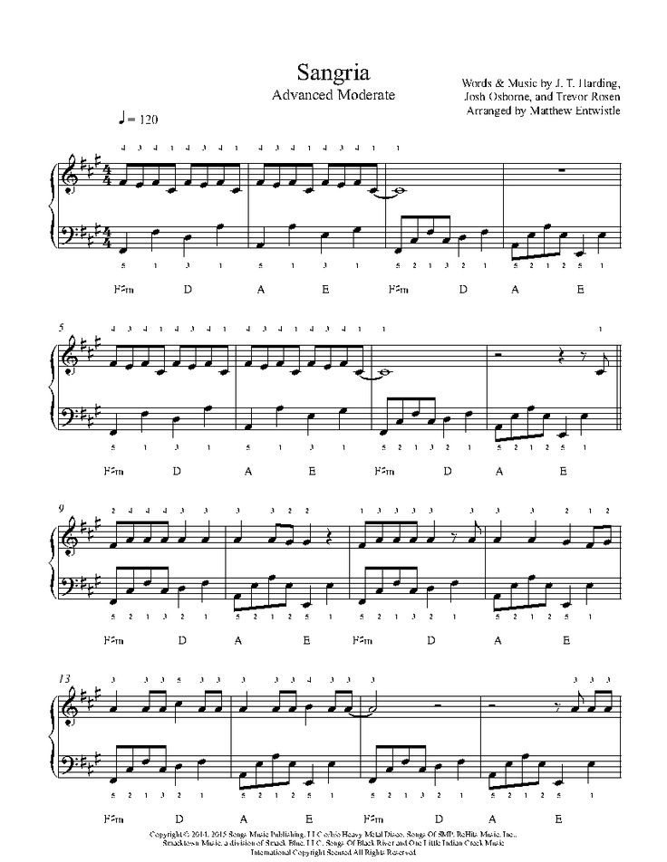 220 best Playground Advanced Sheet Music images on Pinterest ...