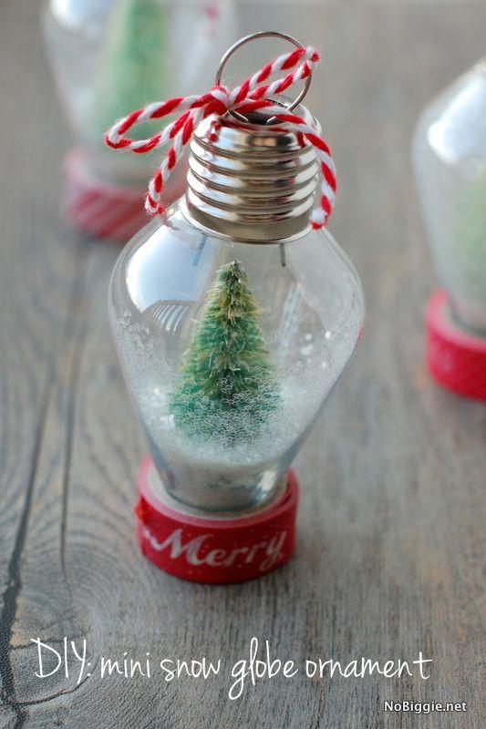 Diy Mini Snow Globe Ornament Creative Christmas Ornaments Christmas Ornaments