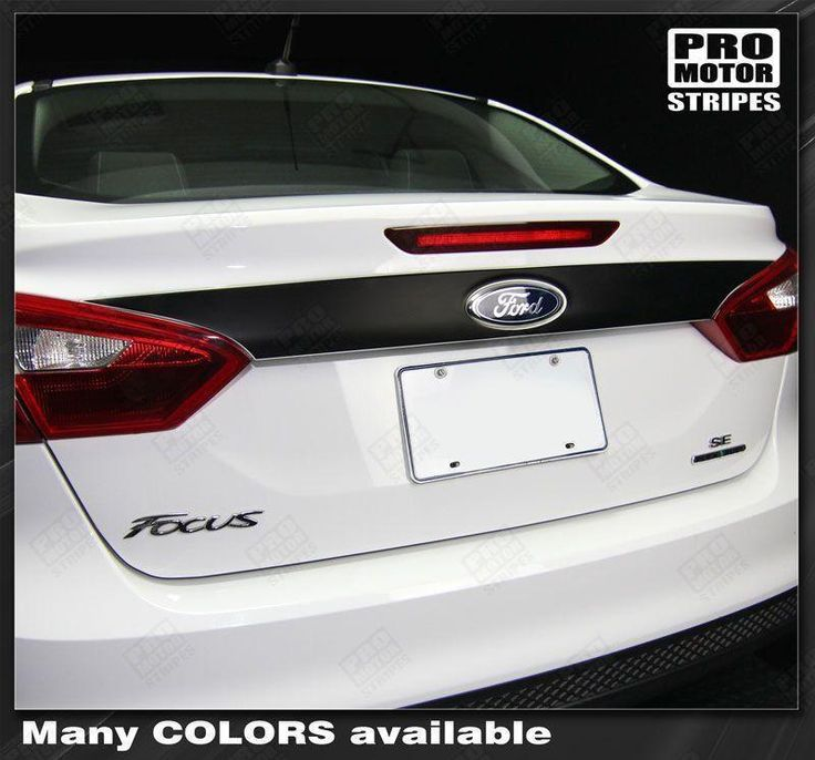 Ford Focus 2011-2014 Trunk Deck Panel Blackout/Highlight Stripe
