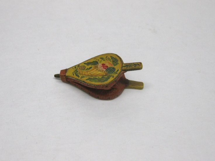 Dollhouse Miniature Fireplace Bellows Hand Painted They Work!