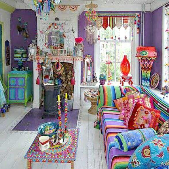 Eclectic Art Deco Living Room