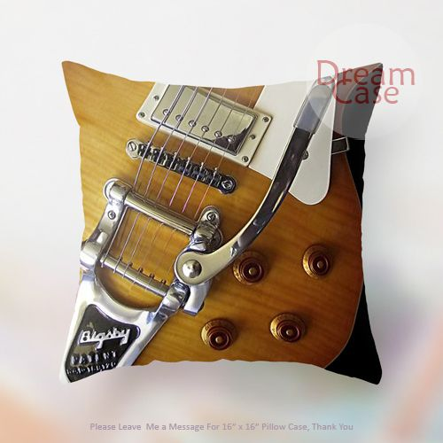 slash snakepit electric guitar - Pillow Case 18 x 18 - Note for 16 inch