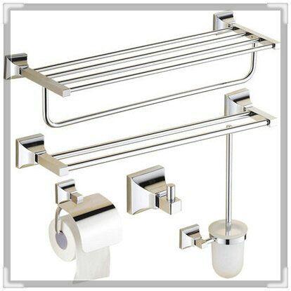 Купить товар5 шт. современный полотенце бар + держатель для туалетной бумаги + вешалка для полотенец + ванная полки + держатель для туалетной щетки аксессуары комплект ( UP KL04 ) гриф в категории Аксессуары для ваннойна AliExpress.            &