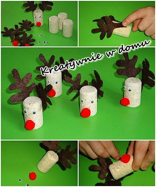 Ozdoby na choinkę z korków po winie / christmas ornaments | Kreatywnie w domu