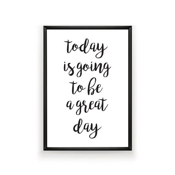 Typography Print Positive Quote Print Home Decor Wall Art