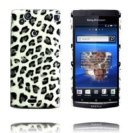 Safari Fashion (Hvit Leopard) Sony Ericsson Xperia Arc Deksel