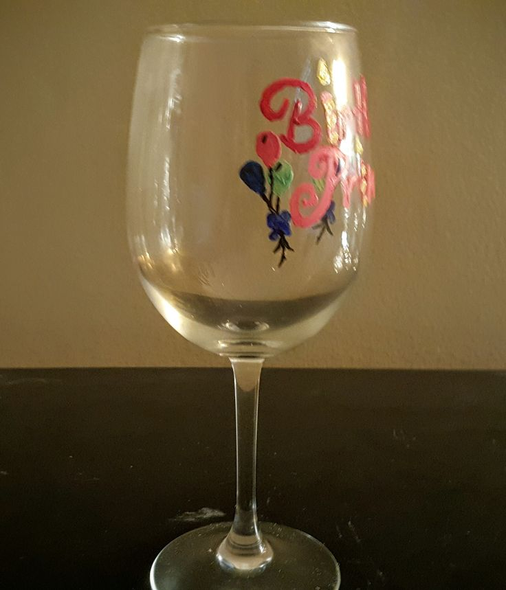 Birthday Princess Glass