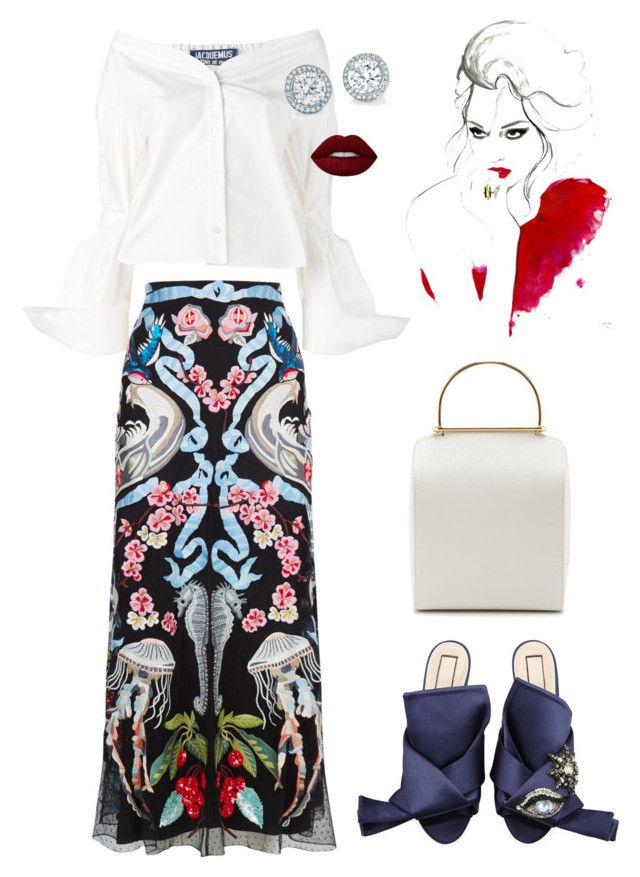 """Spring dream"" by trend-anonymous on Polyvore featuring Jacquemus, Temperley London, N°21, Besa Lighting, Lime Crime, polyvoreeditorial and Spring2017"