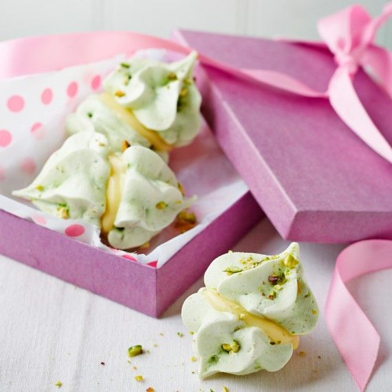 Sophie Ellis-Bextor's Pistachio and Cardamom Meringue Kisses - Woman And Home