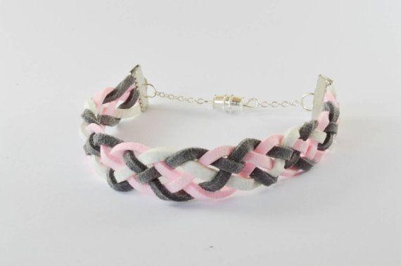 $10 braided suede bracelet