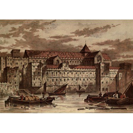 Old London 1900 Savoy Palace Strand Canvas Art - Waldo Sergeant (24 x 36)