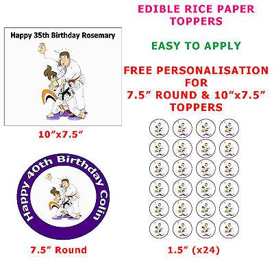 Personalised judo #martial art #birthday cake/cupcake toppers on rice #paper ,  View more on the LINK: 	http://www.zeppy.io/product/gb/2/262346533982/