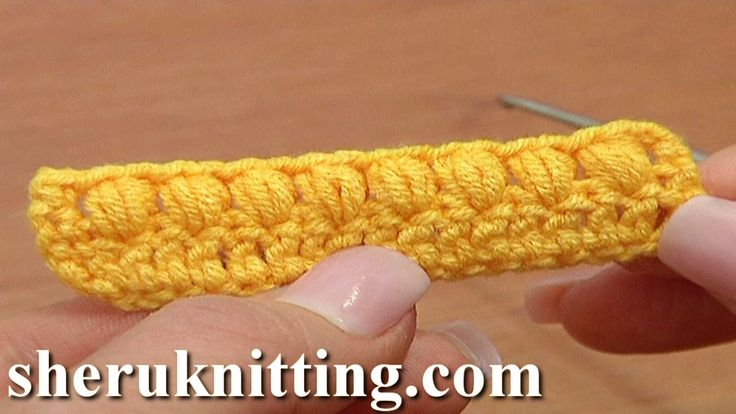 Open Puff Stitch Crochet Tutorial 37 Part 3 of 3 Crochet Basics ༺✿ƬⱤღ  https://www.pinterest.com/teretegui/✿༻