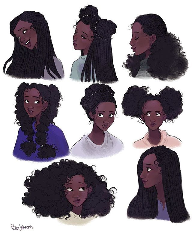 Aluna Hairstyles Art Characterdesign Drawing Character Design Pretty Art Black Girl Art