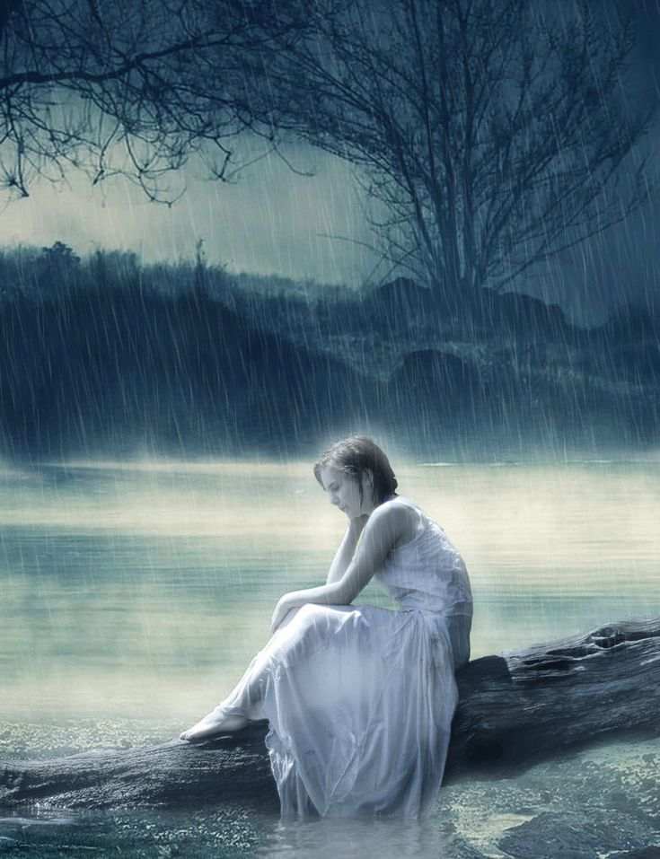 Life without you surrounded by darkness and rain i can - Sad girl pictures crying ...