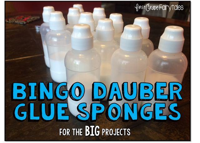 If you use glue sponges, you know they don't always work with big pieces of paper. Try Bingo Dauber Glue Sponges!