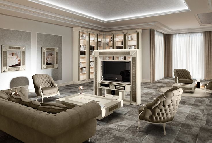 Vismara Design is specialized in motorized TV stand for middle room.Tv panel swivel 360 degrees, so you can watch tv in more than one part of the living room. #livingroom #luxuryfurniture #madeinitaly